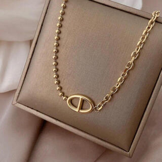 AHKAH - 新品未使用 stainless18kgf chain necklace gold