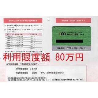 限度額80万円:三越伊勢丹株主優待カード(10%OFF):送料込