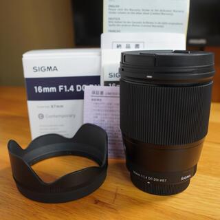 SIGMA - SIGMA 16mm f1.4 DC DN マイクロフォーサーズ 美品