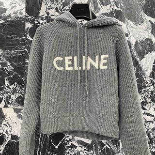 セリーヌ(celine)のフード付き CELINE セーター / ウール ミディアムグレー(ニット/セーター)