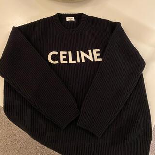 セリーヌ(celine)のCELINE オーバーサイズ セーター / ウール ブラック(ニット/セーター)