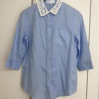 ジルスチュアート(JILLSTUART)のジルスチュアート 襟レースシャツ(シャツ/ブラウス(長袖/七分))