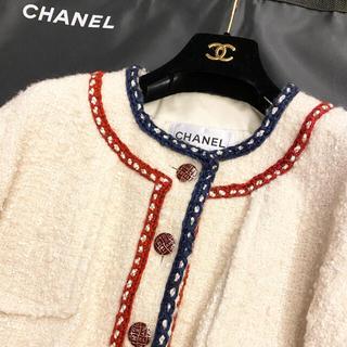 CHANEL - CHANEL トリコロールジャケット美品