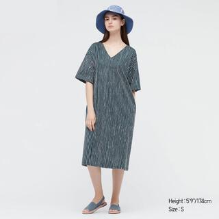 マリメッコ(marimekko)のUNIQLO x marimekko コットンジャージー半袖ワンピース XXS(ひざ丈ワンピース)
