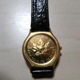 メイプルリーフ 金貨時計