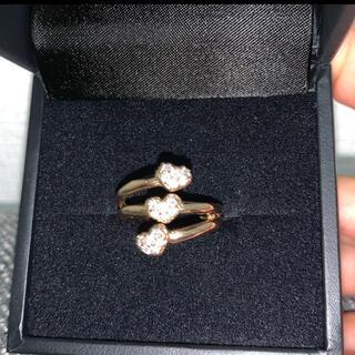 ポンテヴェキオ(PonteVecchio)のポンテベッキオ k18パヴェダイヤモンド3連ハートリング(リング(指輪))