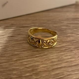 本物鑑定済み18金ダイヤモンドリング  専用箱付き ダイヤモンド 刻印あり