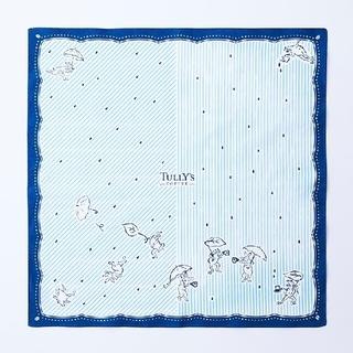 タリーズコーヒー(TULLY'S COFFEE)のタリーズ Tully's 風呂敷 鳥獣戯画 (雨とコーヒー)(日用品/生活雑貨)