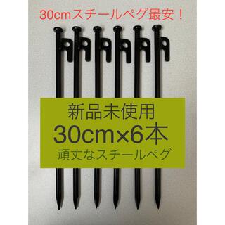 【新品】スチールペグ  ペグ 30cm  6本セット 強靭