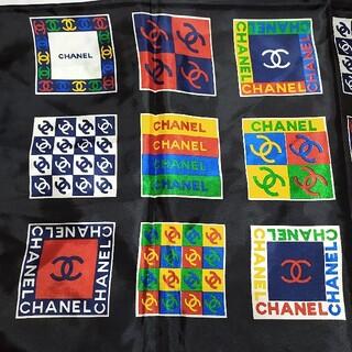 CHANEL - シャネル正規 CHANEL ピュアシルク大判スカーフ  マルチカラー 国旗
