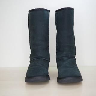 アグ(UGG)の良品 UGG australia アグ 23cm 黒 ムートンブーツ(ブーツ)