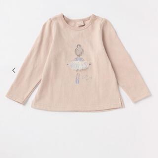 petit main - petit main バレリーナモチーフ長袖Tシャツ90