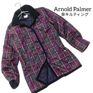 アーノルドパーマー(Arnold Palmer)のアーノルドパーマー キルティング ブルゾン アウター チェック 紫 レディース(ブルゾン)