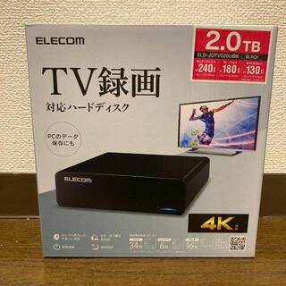 ELECOM - 【新品】ELD-JOTV020UBK エレコム 外付けハードディスク