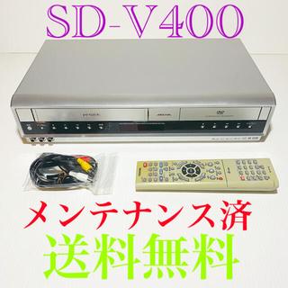 トウシバ(東芝)のTOSHIBA 東芝  ビデオ一体型 DVD  SD-v400(メンテナンス済)(その他)