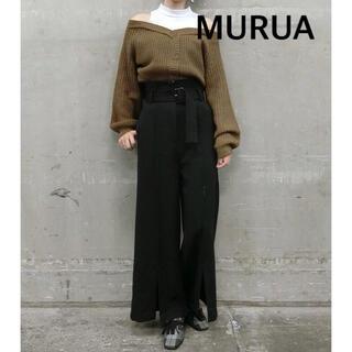 ムルーア(MURUA)のMURUA オフショルレイヤードニット(ニット/セーター)
