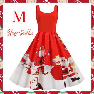 サンタコスチューム パーティードレス 衣装 M(衣装一式)