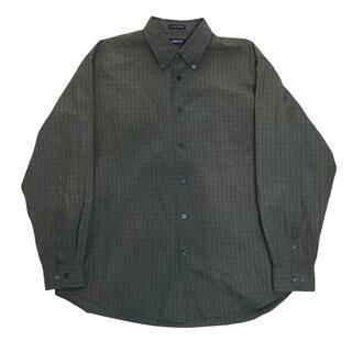 アロー(ARROW)の【90s】アロー Arrow シャツ 長袖 L カーキ 輸入古着 オーバーサイズ(シャツ)