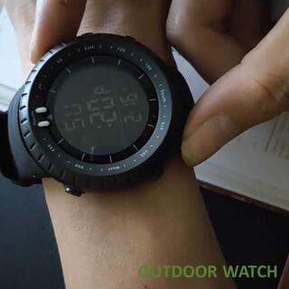 アウトドアウォッチ 防水 ブラック 黒 ダイバーズ 腕時計