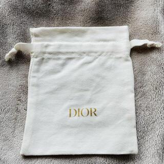 Dior - 新品 未使用 ディオール Dior 巾着 白 1枚 即購入