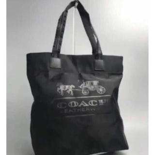 COACH - COACHコーチ エコバッグ トートバッグ ブラック アウトレット