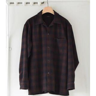 COMOLI - comoli 20AW ウールチェックオープンカラーシャツ size2