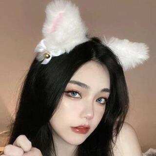 新品☆白★猫耳ファーの可愛いカチューシャ