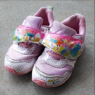 ◼️ムーンスターのトイストーリーのピンクの光る靴 17センチ キッズ 子供