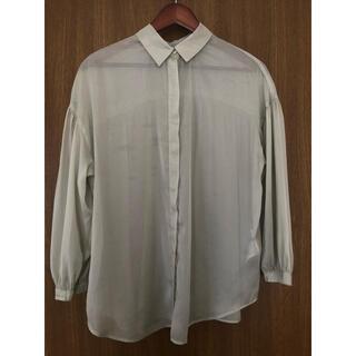 ヴィス(ViS)の【色味は最後の写真で確認ください】ViS ニュアンスカラーシアーシャツ(シャツ/ブラウス(長袖/七分))