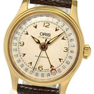 オリス(ORIS)のオリス ポインターデイト バックスケルトン 7405 メンズ 【中古】(腕時計(アナログ))