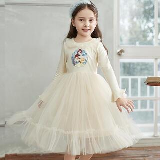 ベル風プリンセスフリフリキッズワンピースキッズドレス100サイズ