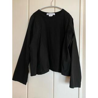コムデギャルソン(COMME des GARCONS)のコムコム コムデギャルソン カットソーシャツ 黒(Tシャツ(長袖/七分))