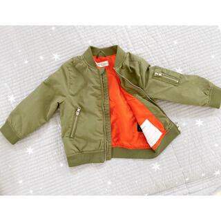 エイチアンドエム(H&M)のH&M ジャケット 上着 ミリタリー 90.100(ジャケット/上着)