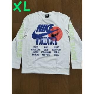 ナイキ(NIKE)の定価10450円‼️NIKEサイズXL WORLD TOUR ロンT白XL未使用(Tシャツ/カットソー(七分/長袖))