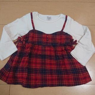 フタフタ(futafuta)のfutafuta 赤チェック トップス 95(Tシャツ/カットソー)