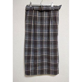 しまむら - ウール混チェック柄タイトスカート