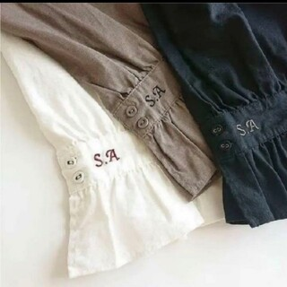SM2 - SM2 SA刺繍パンツ ブラック
