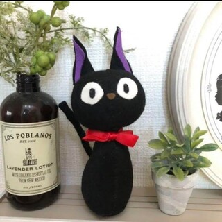 黒猫❤ぬいぐるみ❤型紙 ジブリや魔女の宅急便好きな方に
