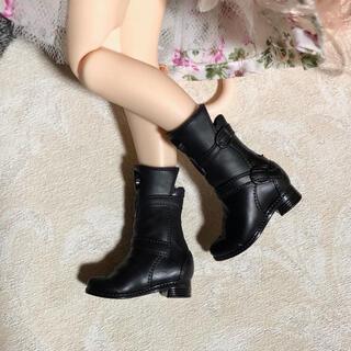 1/6 ドール ブーツ C 黒 靴 バービー リカちゃん ブライス ピュアニーモ