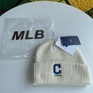 ニューエラー(NEW ERA)のMLB白い帽子(ニット帽/ビーニー)