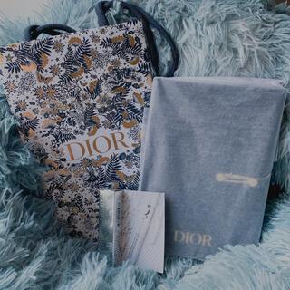 ディオール(Dior)のDior クリスマス ノベルティ ノート マスカラ下地 ショップ袋(マスカラ下地/トップコート)