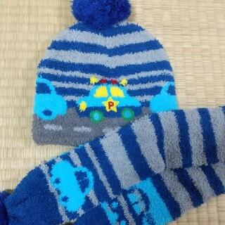 サンリオ(サンリオ)のサンリオ 車柄 マフラー&ニット帽 1~2歳児用(マフラー/ストール)