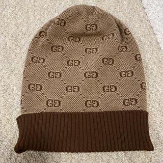 Gucci - 美品❗️グッチチルドレン ロゴニット帽 サイズL 56センチ