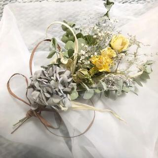 黄色の薔薇が可愛い♡12種類のドライフラワー  35㎝スワッグ