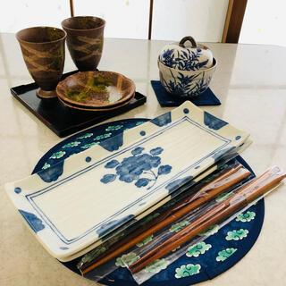 タチキチ(たち吉)のさんま用お皿 秋刀魚用お皿 お二人さま❣️(食器)