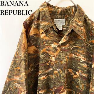 バナナリパブリック(Banana Republic)の★希少 90s vintage バナナリパブリック アニマル 総柄 シャツ(シャツ)