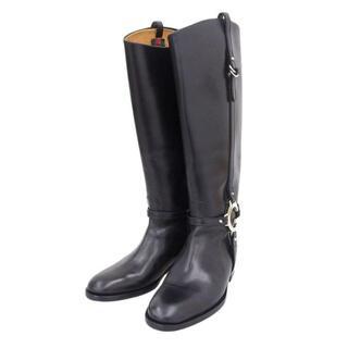グッチ(Gucci)のグッチ GUCCI ロングブーツ レザー ブラック 黒 246703 35(ブーツ)
