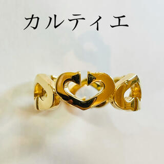 Cartier - 美品【Cartier/ カルティエ 】Cハート リング