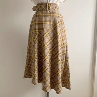 ユナイテッドアローズ(UNITED ARROWS)のユナイテッドアローズ 12,100円新品タータンチェックアシンメトリースカート(ロングスカート)