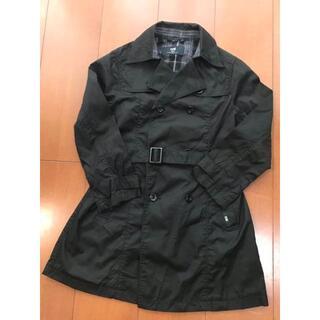 コムサデモード(COMME CA DU MODE)のコムサデモード トレンチコート 130 美品 黒(ジャケット/上着)